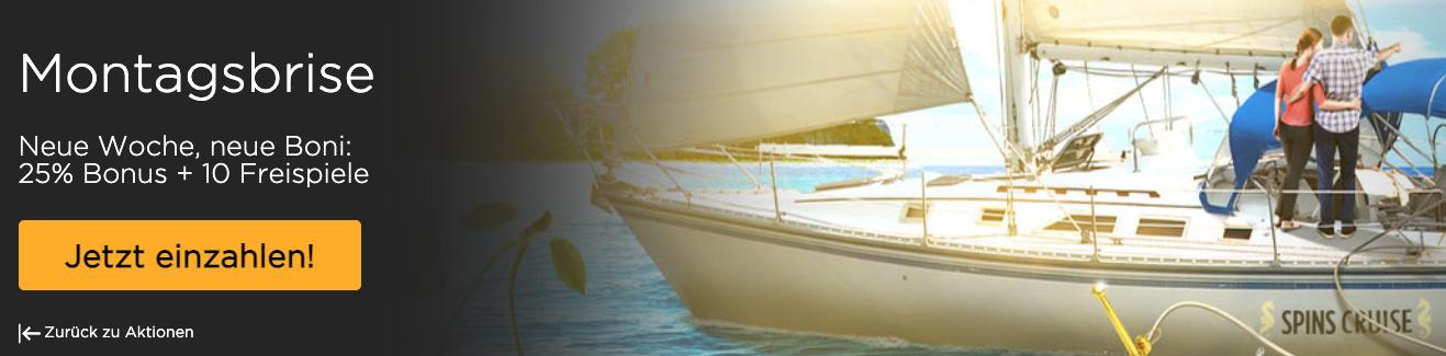 Spins Cruise Bonus ohne Einzahlung