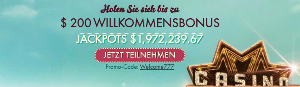 777 Casino Bonus Code