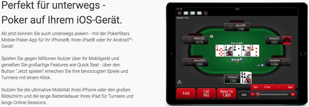Pokerstars Casino-App